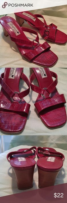 """Brighton Terry Sandals w/Heel Size 8 Red Leather Brighton Terry Sandals with Heels. (2 1/2"""")Size 8.  Red Leather. Preowned but in Excellent shape! Brighton Shoes Sandals"""