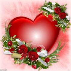 12dxi-1h5-2 Heart Wallpaper, Love Wallpaper, Cellphone Wallpaper, Flower Frame, Flower Art, Calligraphy Flowers, Beautiful Love Pictures, Love You Gif, Decoupage Glass