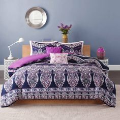 Product Image for Intelligent Design Adley Comforter Set in Purple 2 out of 5