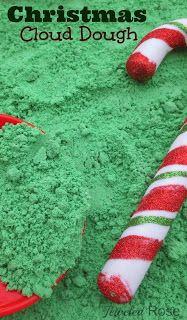 Christmas Cloud Dough Recipe for Play- so fun for kids!