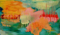 Carolyn O'Neill  River Deep, Mountain High - 2014  Oil on canvas  91 x 152 cm