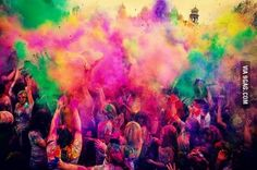 Today is the festival of colors also known as HOLI in India