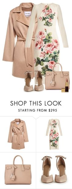 """""""Did someone say tea?"""" by lila-montalvo ❤ liked on Polyvore featuring MaxMara, Dolce&Gabbana, Yves Saint Laurent and Tom Ford"""