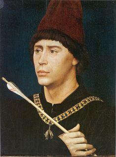 Rogier van der Weyden: Portrait of Antoine, 'Grand Bâtard' of Burgundy, c. 1460. Musées royaux des Beaux-Arts de Belgique, Brussels.