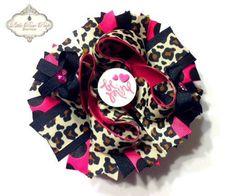 Be Mine Leopard Shocking Pink Valentine's Day por LittleBowPeepBtq