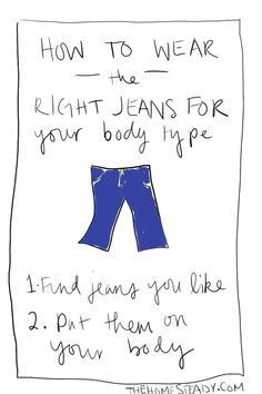 How to wear the right jeans for your body type...