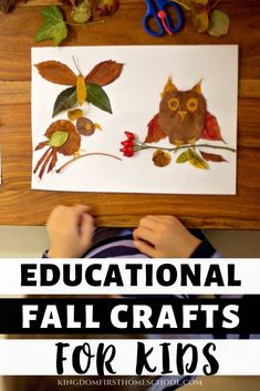 Are you looking for fun fall arts and crafts for your kids? Let your child use this season to create something wonderful about autumn, through easy to do fall crafts / fall art/ fall activities that are both educational and fun. Arts And Crafts Movement, Fall Arts And Crafts, Arts And Crafts Storage, Arts And Crafts For Adults, Easy Fall Crafts, Fun Crafts, Crafts Cheap, Stick Crafts, Fall Crafts For Toddlers