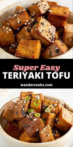 5 minute Teriyaki Tofu bites? Yes, please. Perfect as a quick weeknight meal, toss on top of a sushi bowl, wrap in temaki sushi or eat on their own for a quick snack. Easy Japanese Recipes, Japanese Food, Quick Weeknight Meals, Easy Meals, Teriyaki Tofu, 5 Minute Meals, Sushi Bowl, Quick Snacks, World Recipes