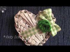 tutorial cuore con cannucce di carta - YouTube