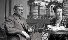 Cafe society: Jean-Paul Sartre and Simone de Beauvoir in Paris, Photograph: Sipa Press / Rex Features Jean Paul Sartre, Michel Leiris, Le Castor, Albert Schweitzer, Political Spectrum, Book Writer, Memoirs, People, Books