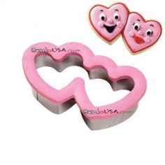 Bento Decoration Accessories Cookie Cutter Double Heart