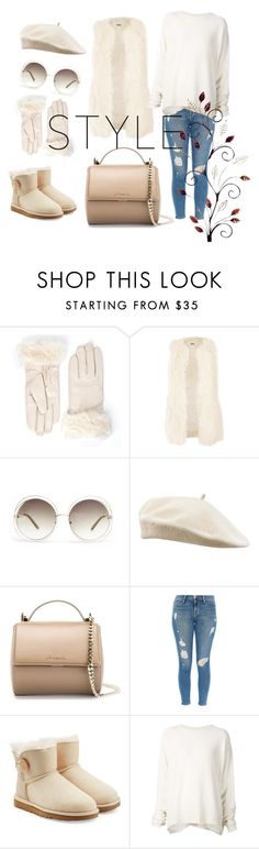 """""""Untitled #37"""" by istyle5 ❤ liked on Polyvore featuring Jakke, Chloé, Givenchy, Frame Denim, UGG Australia and URBAN ZEN"""