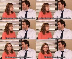 """I had just woken up. I didn't look cute. That's how I knew he meant it."" I want a love like Jim and Pam."