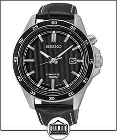 Seiko Kinetic - Reloj de cuarzo para hombre, correa de cuero color negro de  ✿ Relojes para hombre - (Gama media/alta) ✿