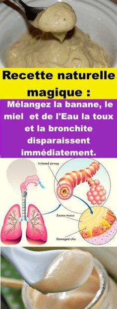 Water, Honey & Bananas: Bronchitis & Cough Will Disappear! Mix Water, Honey & Bananas: Bronchitis & Cough Will Disappear! Mix Water, Honey & Bananas: Bronchitis & Cough Will Disappear! Cold And Cough Remedies, Flu Remedies, Health Remedies, Bronchitis Remedies, Healthy Drinks, Healthy Tips, Healthy Protein, Healthy Habits, Alternative Heilmethoden