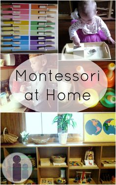 DIY montessori toddler activities...Montessori schools are expensive but I LOVE their philosophy