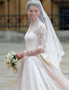 Bouquet de Mariée de Kate Middleton composé de muguet, jacinthes, myrtes et de lierre.