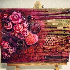 my new mixed media on canvas