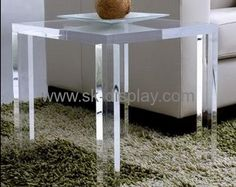 Wholesale acrylic furniture modern dining table designs hard plastic table AFS-102