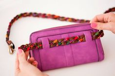 How to Turn a Clutch into a Chic Fanny Pack via Brit + Co.