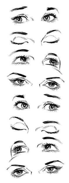 How to draw realistic expressive eyes; eyes reference // Art by Christopher Hart* • Blog/Website | (http://christopherhartbooks.com) • Online Store | (http://christopherhartbooks.com/drawing-bookstore) ★ || CHARACTER DESIGN REFERENCES™ (https://www.facebook.com/CharacterDesignReferences & https://www.pinterest.com/characterdesigh)