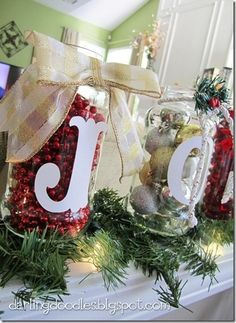 Mason Jar Decorating Ideas For Christmas Dawn Evans Dawnevans735944 On Pinterest