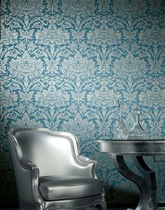 Behang Hooked on Walls collectie Sweet Luxe #blauw #blue wallpaper by Hooked on Walls