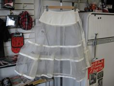 Vintage 1950s Tiered Cage Style Petticoat by ReuttersGeneralStore, $65.00