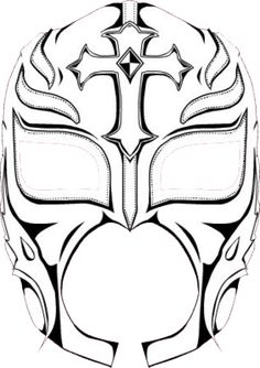 Rey Mysterio Mask Coloring Pages It Cooooooooooooooooooooooo Sketch Page