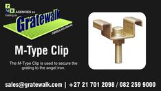 Fibreglass/Fiberglass Grating Fasteners - M-Type Clip is used to secure the grating to the angel iron. Fasteners, Being Used, Iron, Angel, Type, Steel, Angels