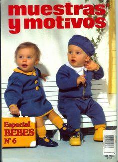 Gallery.ru / Фото #64 - Muestras y Motivos Especial Bebes 6 - tymannost Knitting Magazine, Lana, Mario, Crochet Hats, Character, Magazines, Fashion, Kids Fashion, Knitted Baby