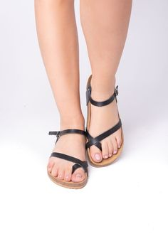 Gypsy black anatomic sandals - Leather sandals, light sandals, traveller sandals #WomenSandals #WalkingSandals #outdoors #FlatSandals #anatomic #TrekkingSandals #Sandals2020 #Birkenstock #LeatherSandals #AnatomicSandals Trekking Sandals, Designer Sandals, Black Leather Sandals, Birkenstock Mayari, Flat Sandals, Real Leather, Gypsy, Trending Outfits, Greek
