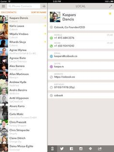 ipad contacts app - Google Search