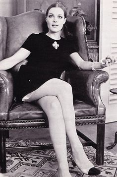 Romy Schneider in a Chanel dress and shoes in Les choses de la vie, 1969