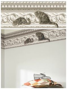 Cheeky #cats wallpaper called Paddy and Louis by Cole & Sons