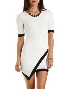 Color Block Asymmetrical Bodycon Dress