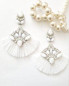 Prom Earrings, Bridesmaid Earrings, Rhinestone Earrings, Wedding Earrings, Tassel Earrings, Bridesmaid Gifts, Statement Earrings, Wedding Jewelry, Earrings Handmade