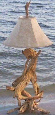 .driftwood lamp:  LOVE THIS