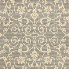 Grey/ Natural Indoor Outdoor Rug (8' x 11'2)