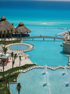 The Westin Lagunamar Ocean Resort Pool, Mexico. I highly recommend this hotel :). Gorgeous!