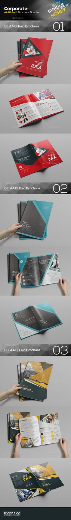 Bi Fold Brochure Bundle 3 in 1  — EPS Template • Only available here ➝…