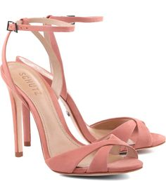 HIGH HEEL STRAPPY SANDAL - 4 1/2 Inch Heel - Adjustable Ankle Strap - Leather Insole - Leather Outsole - Upper: Nobuck