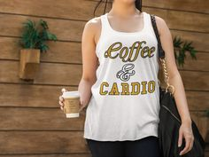 Calling ALL of  YOU fun COFFEE & CARDIO lovers like myself! #CoffeeTankTops #CardioTankTops #Flowy #TankTops #Tops https://teespring.com/coffee-cardio-flowy-tank-tops