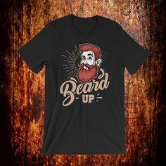 It's time to beard up! Are you part of the beard crew? Then this is the perfect shirt for you or a friend. Beard Gifts, Fabric Weights, Trending Outfits, Mens Tops, Shirts, Fashion, Moda, Fashion Styles, Dress Shirts