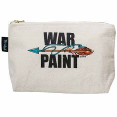 War Paint Makeup Bag  LOTS of NEW Products! Check Out This Fun Make Up Bag!  Get Yours Today www.femailcreatio... #UniqueGifts #GiftsForWomen #Gifts #GiftsForAllOccassions #InspirationalGifts #NewProducts #Trendy #FreeSpirit