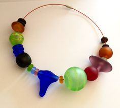 Big Beach Glass Beads statement enclave lampwork by MYglassdesigns