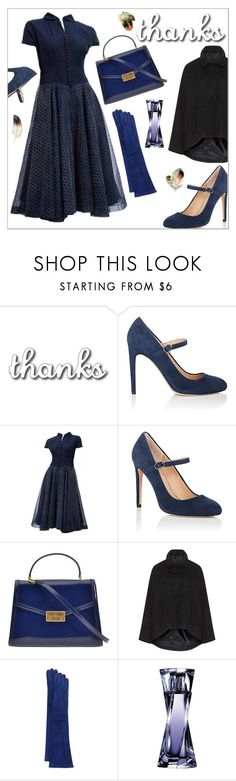 """""""Thanks for . . ."""" by onenakedewe ❤ liked on Polyvore featuring Halston Heritage, Tory Burch, JB Guanti, Lancôme, vintage and country"""