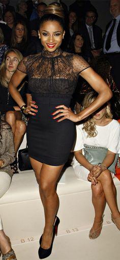 Ciara in Valentino lace dress