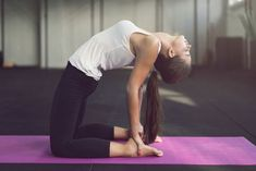 The Best Yoga Poses to Ease Your Period Cramps — Brit + Co Physical Fitness, Yoga Fitness, Fitness Workouts, Tai Chi Classes, Period Cramps, Obstetrics And Gynaecology, Biceps And Triceps, Yoga Posen, Home Sport