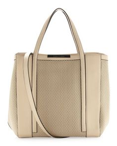 Baily Perforated Block Tote Bag, Beige by Charles Jourdan at Neiman Marcus Last Call.